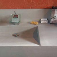 lavabo style lavoir en béton ciré