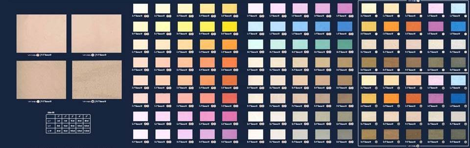 nuancier peinture décorative à la chaux et badigeon, applicateur revêtement sols & murs 66
