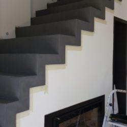 béton ciré escalier sol