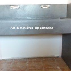 meuble sur mesure béton ciré