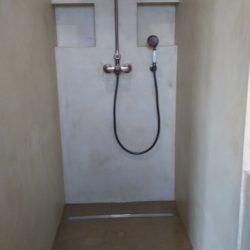 salle de bain, meuble, sol, mur en béton ciré