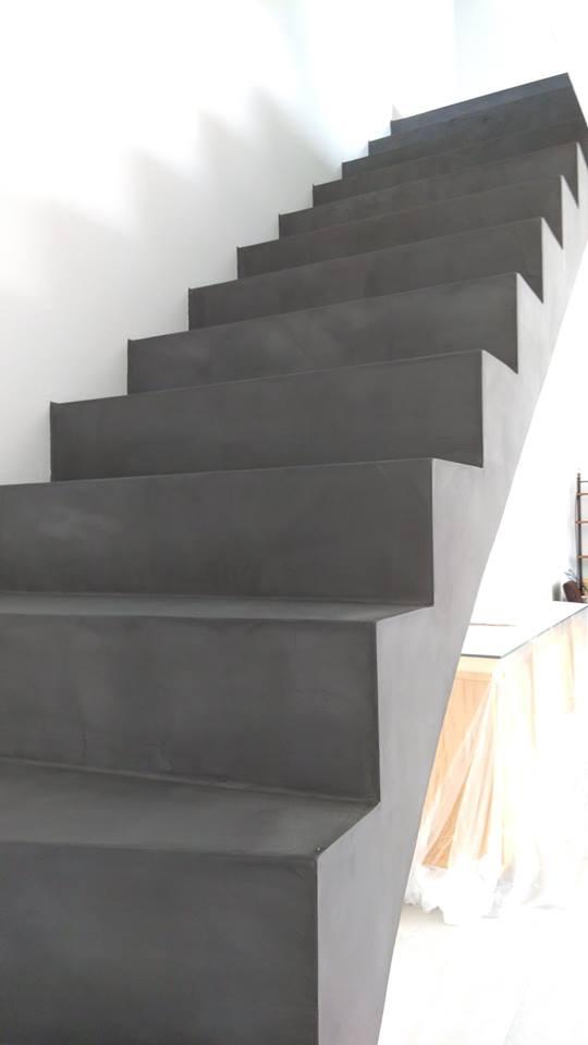 escalier béton ciré perpignan 66